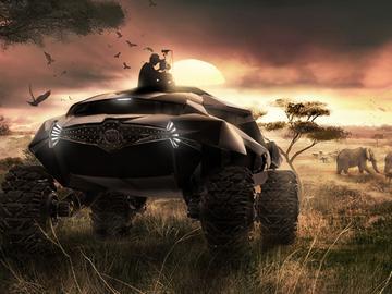 未來鐵甲戰騎!2035 ZAIRE全地形概念車超吸睛!